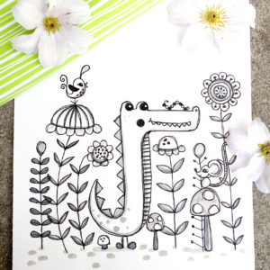 Textile Designs, Surface Designs, Illustration, textildesign, stoffdesign, Rebekah Ginda