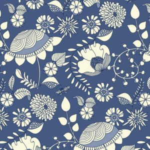 repeat flowers floral illustrative textile design for fabric and surface design, Textile Designs, Surface Designs, Illustration, textildesign, stoffdesign
